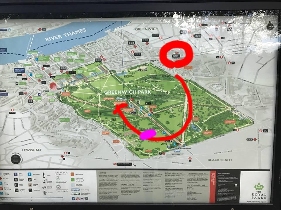 グリニッジパーク地図