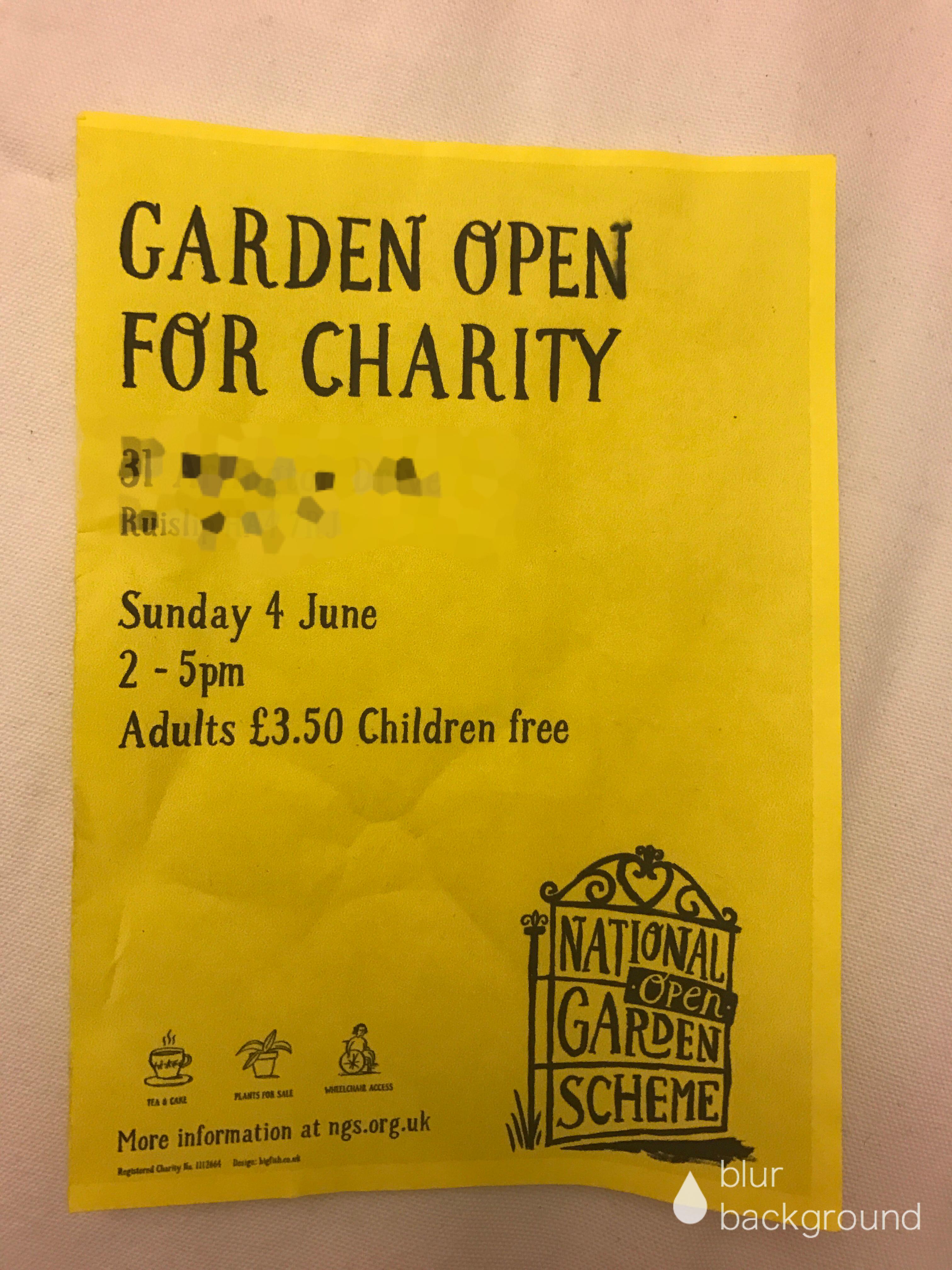 チャリティ イギリスの庭