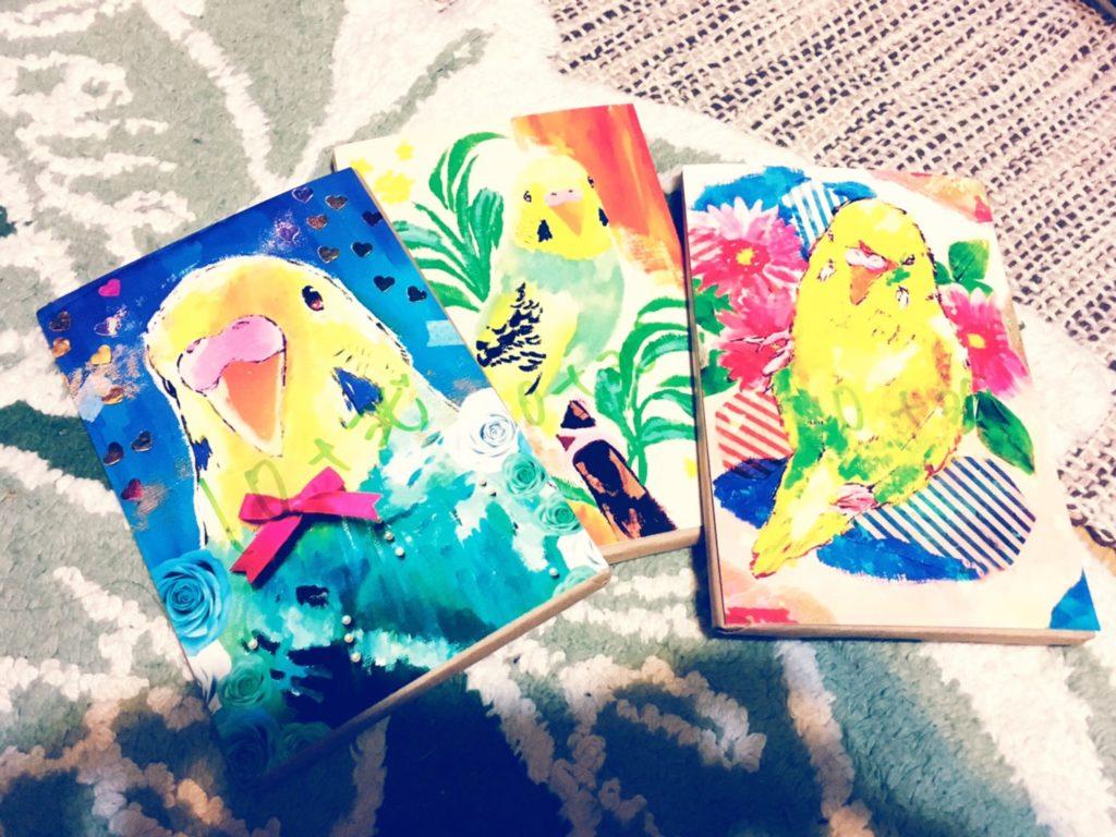 ポストカード セキセイ インコ palette
