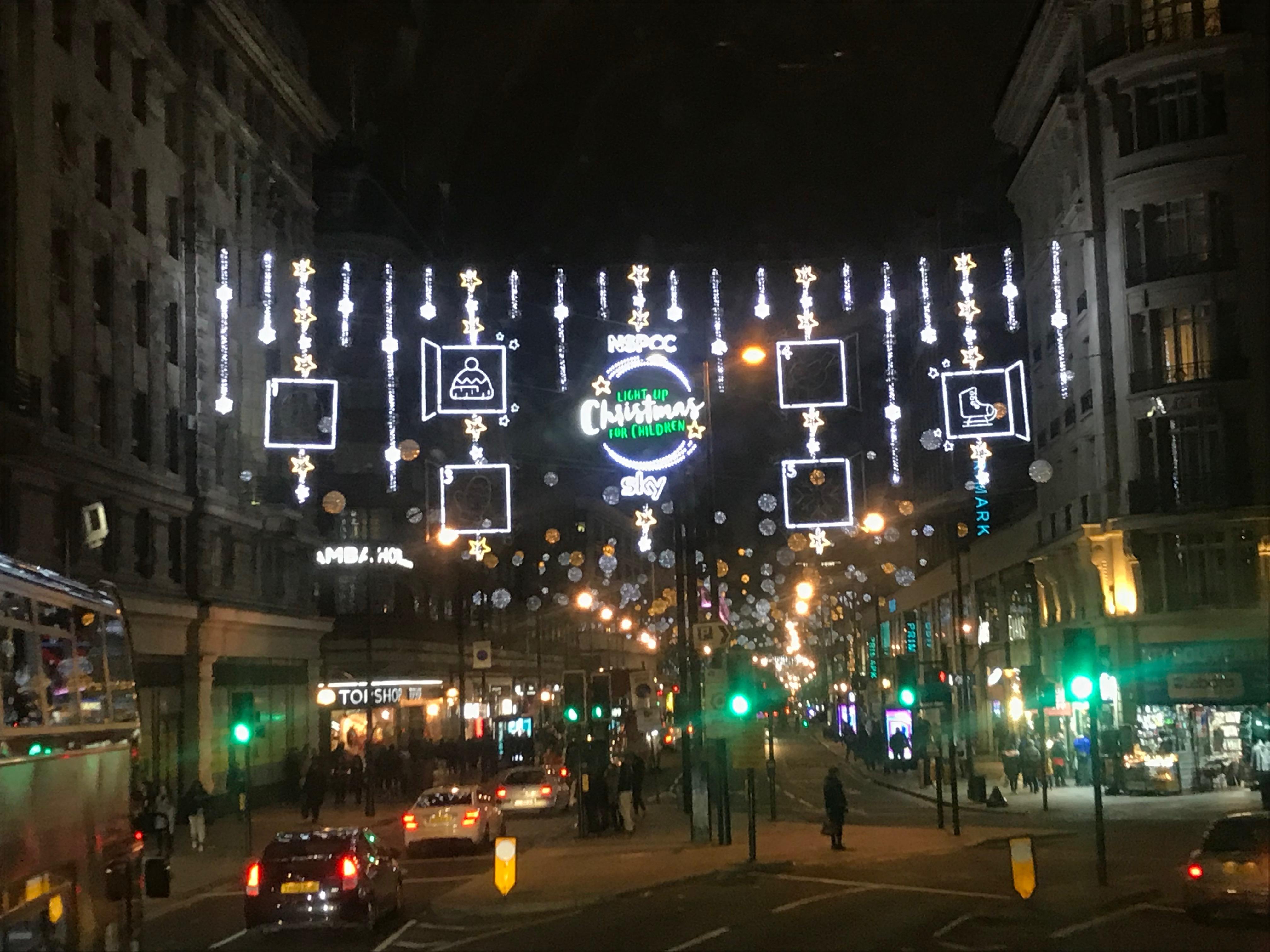 Londonのイルミネーション