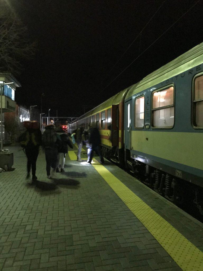 テッサロニキからベオグラードまでの電車